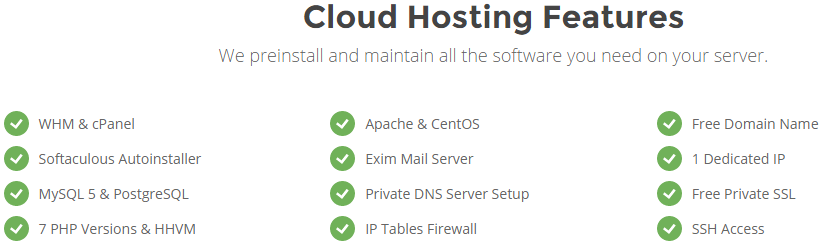 cloud hosting features