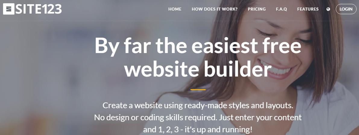 SITE123 Simple web builder
