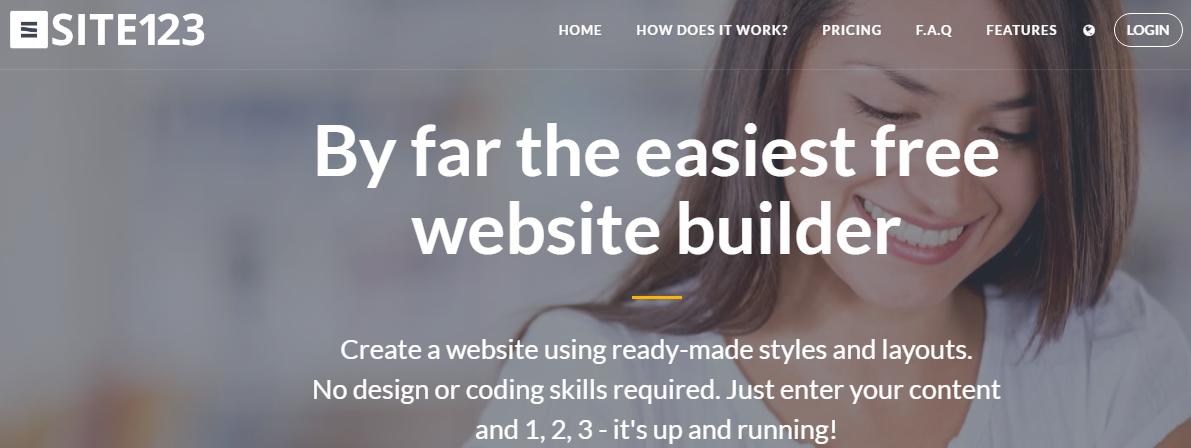 SITE123 Simple web builder