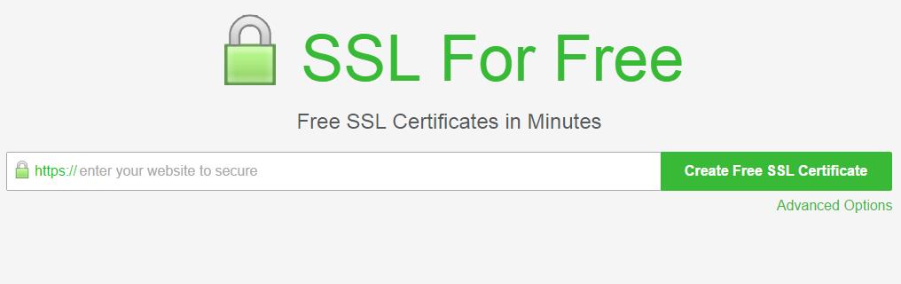 SSLForFree Free SSL Certificate