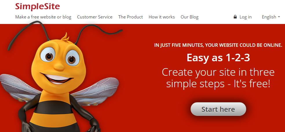 SimpleSite free website development tool