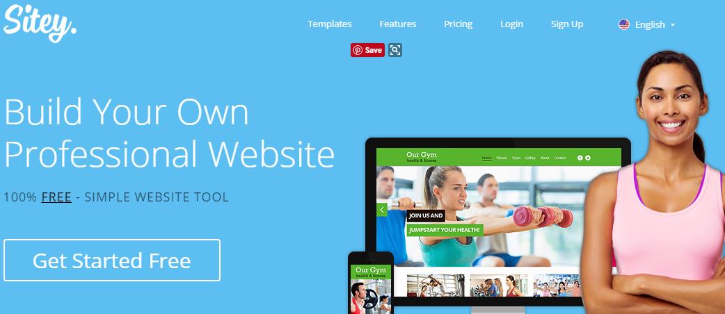 Sitey free website design software