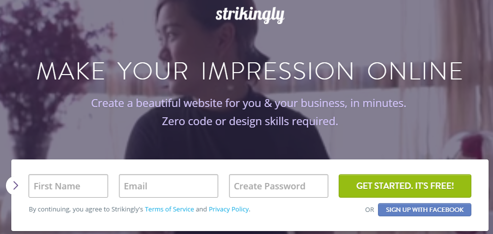 Strikingly free online website builder