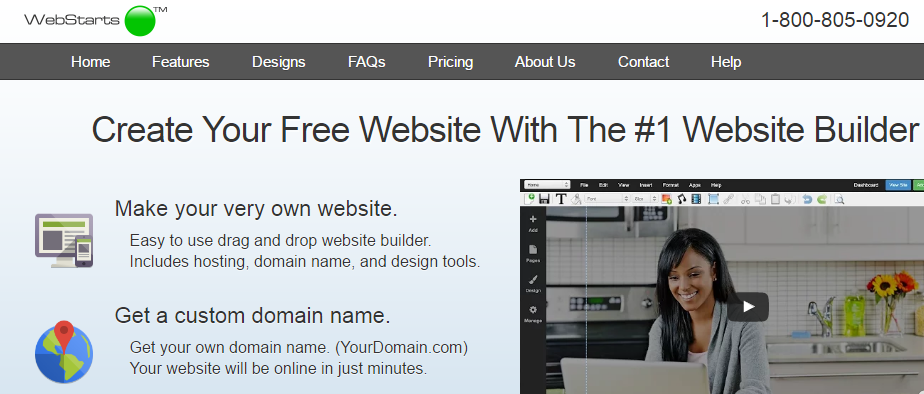 WebStarts small business website builder