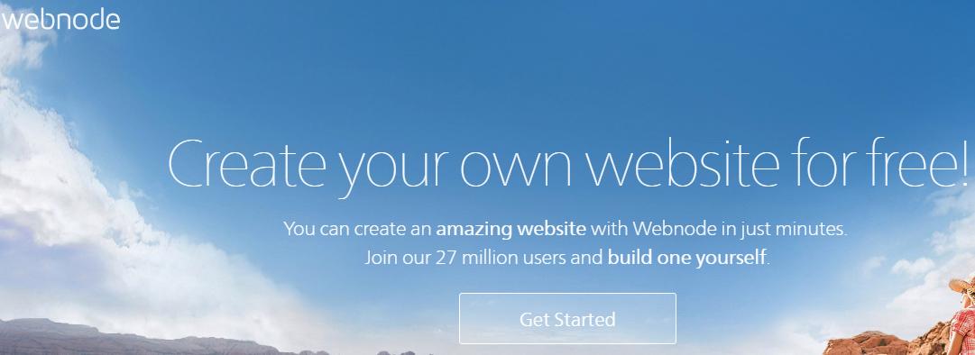 Webnode drag and drop website builder