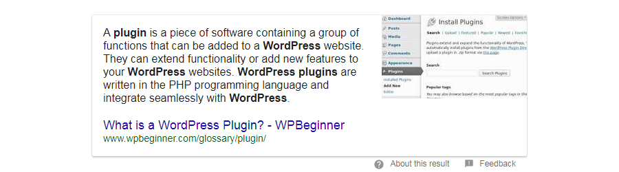 paragraph featured snippet